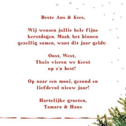 Kerstkaart Oost west thuis kerst  3