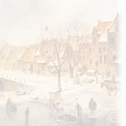 Kerstkaart Oudhollandse Winter 2