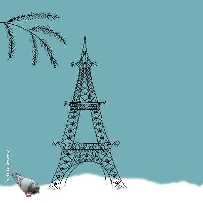 Kerstkaart Parijs blauw-HR 2