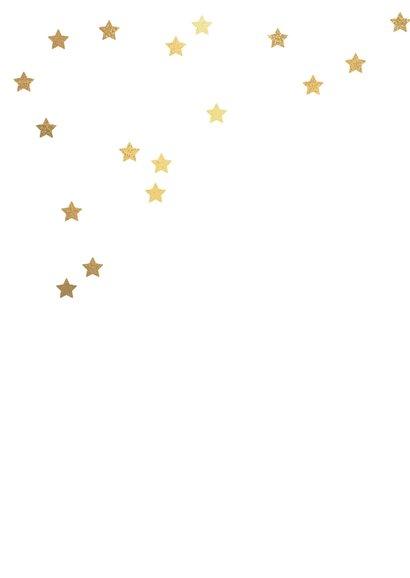 Kerstkaart patrol foto sterren goud 2