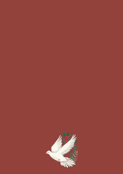 Kerstkaart Peace on Earth illustratie Achterkant
