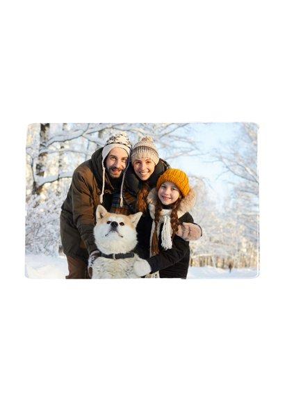 Kerstkaart puur zwart-wit met eigen foto 2