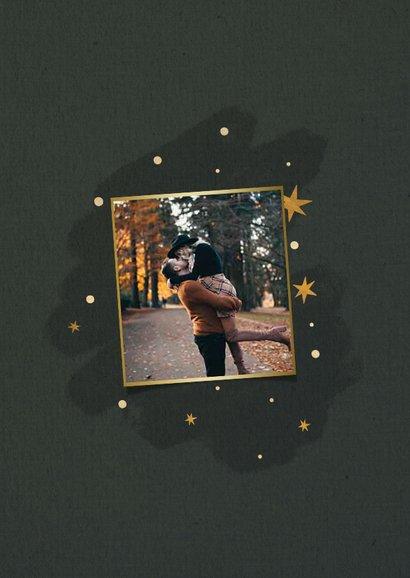 Kerstkaart rendier met sterren en fijne feestdagen 2