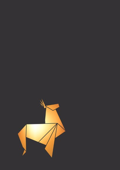 Kerstkaart Rendier origami 2