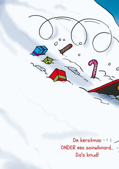 Kerstkaart Rocco snowboard 2