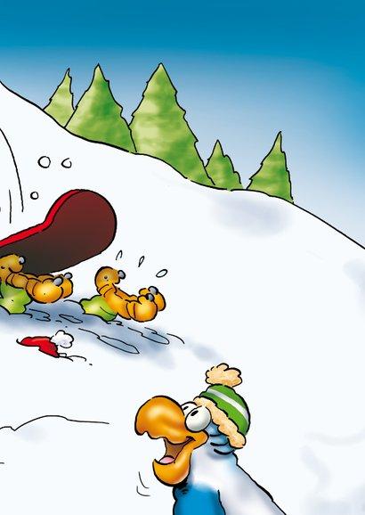 Kerstkaart Rocco snowboard 3