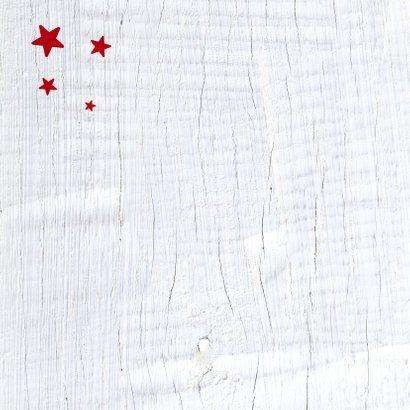 Kerstkaart rode ster 2021 2