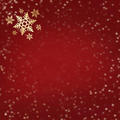 Kerstkaart rood met gouden sneeuwvlok - een gouden kerst 2