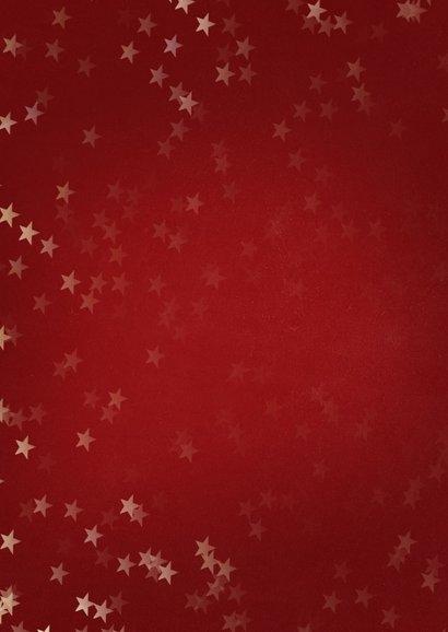 Kerstkaart rood met kerstster van goud - Een gouden kerst 2