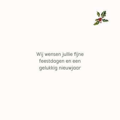 Kerstkaart Roodborstje op besneeuwde bloempot 3