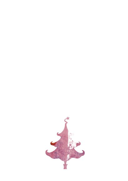 Kerstkaart Roze Kerstbomen 3