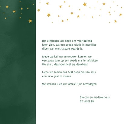 Kerstkaart Samen gaan we er een mooi jaar van maken 3