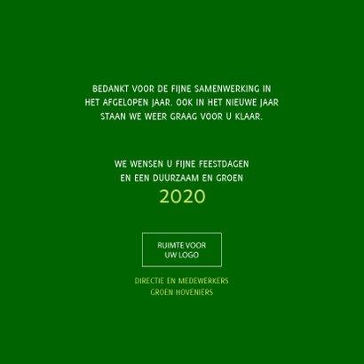 Kerstkaart Samen op weg naar een duurzaam en groen 2020 3