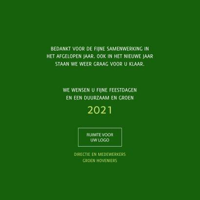 Kerstkaart Samen op weg naar een duurzaam en groen 2021 3
