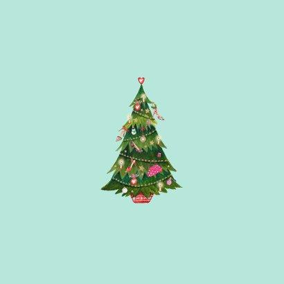 Kerstkaart Santa Schoenen Boom 2