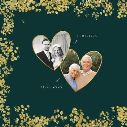 Kerstkaart save the date jubileum goud christmas 2