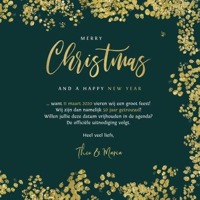 Kerstkaart save the date jubileum goud christmas 3
