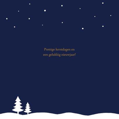 Kerstkaart sneeuw ster stijlvol 2