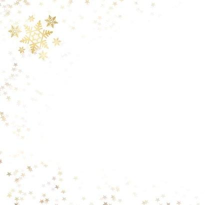 Kerstkaart sneeuwvlok - een gouden kerst 2