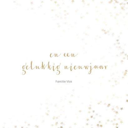 Kerstkaart sneeuwvlok - een gouden kerst 3