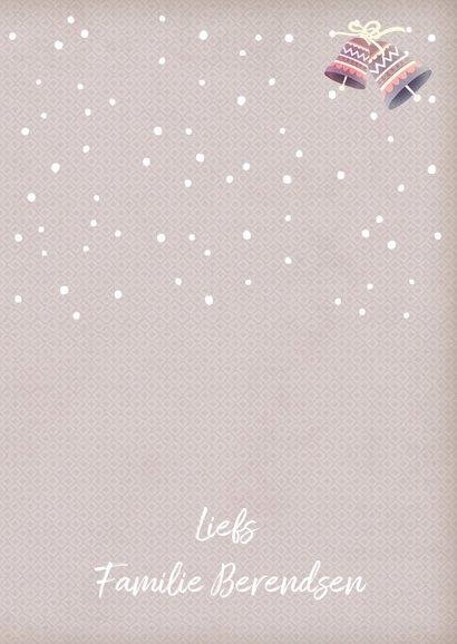 Kerstkaart staand beer met muts 3