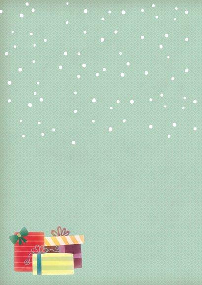 Kerstkaart staand pinguïn met muts 2