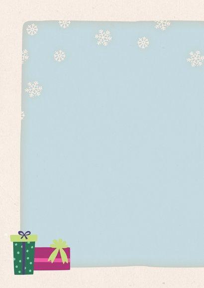 Kerstkaart staand pinguïns 2