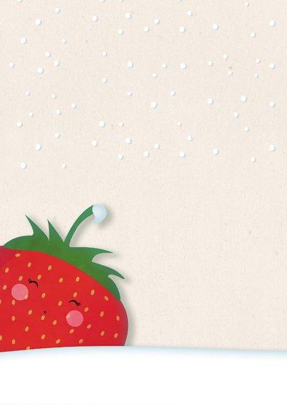 Kerstkaart staand strawberry Berry Christmas  2