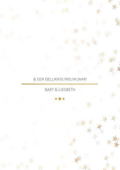 Kerstkaart staand wit met foto en goud - Een gouden kerst 3