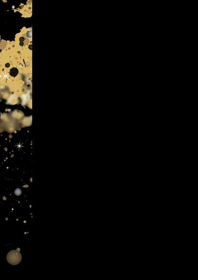 Kerstkaart ster 2021 goud Achterkant