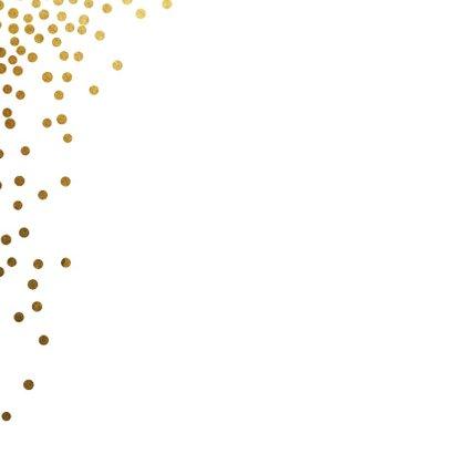 Kerstkaart ster goud 2