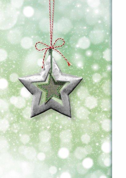 Kerstkaart ster groen rood rh 2