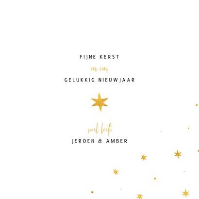 Kerstkaart ster met woorden goudlook 3