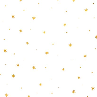 Kerstkaart ster met woorden goudlook Achterkant
