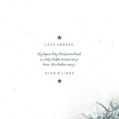Kerstkaart sterkte met kerstbomen en sneeuw 3