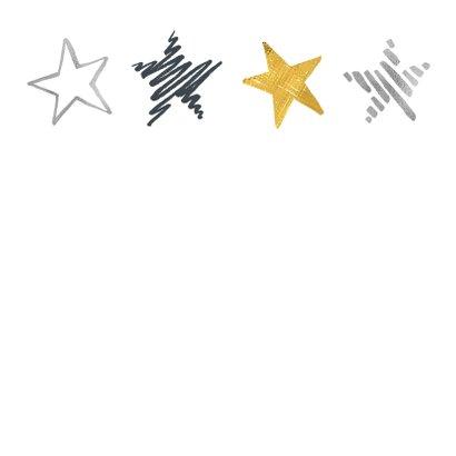 Kerstkaart sterren op rij 2
