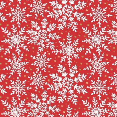 Kerstkaart sterren sneeuwvlokken 2