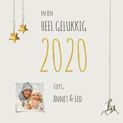 Kerstkaart stijlvol eigen foto rendier 2020 3