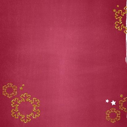Kerstkaart stijlvol en hip foto rood krijtbord  2