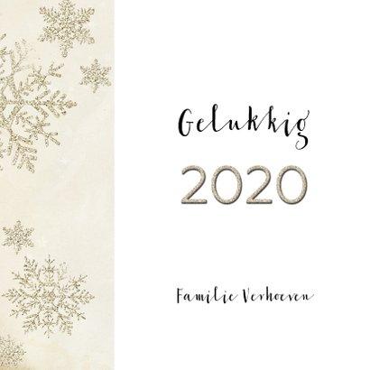 Kerstkaart stijlvol klassiek  taupe 2020 3