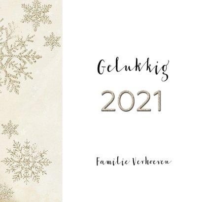Kerstkaart stijlvol klassiek taupe 2021 3