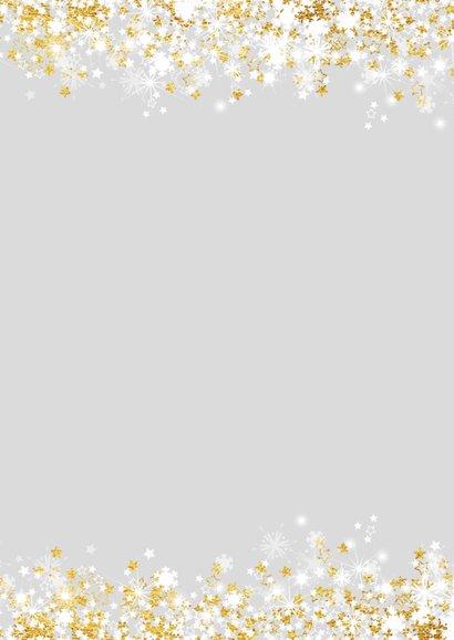 Kerstkaart stijlvol met foto  en sterren en twinkelingen  2