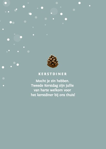 Kerstkaart stijlvol winter met foto 2