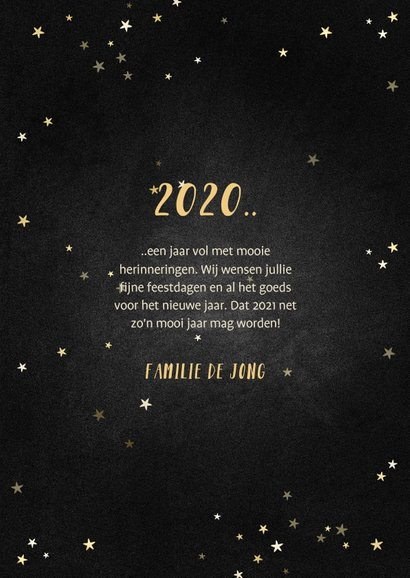 Kerstkaart terugblik op 2020 fotocollage polaroid 3