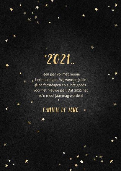 Kerstkaart terugblik op 2021 fotocollage polaroid 3