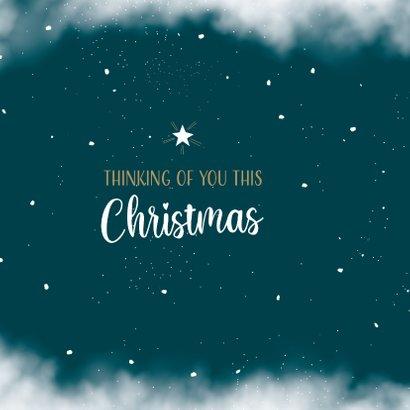 Kerstkaart thinking of you met ster aan de hemel 2