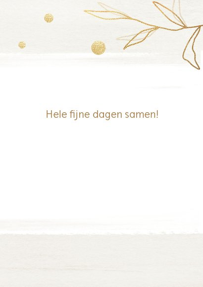 Kerstkaart touch of gold 3