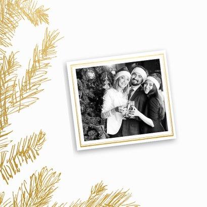 Kerstkaart trendy krijtbord hulst goud - SG 2