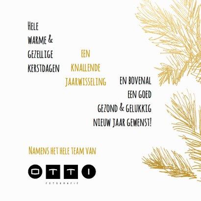 Kerstkaart trendy krijtbord hulst goud - SG 3