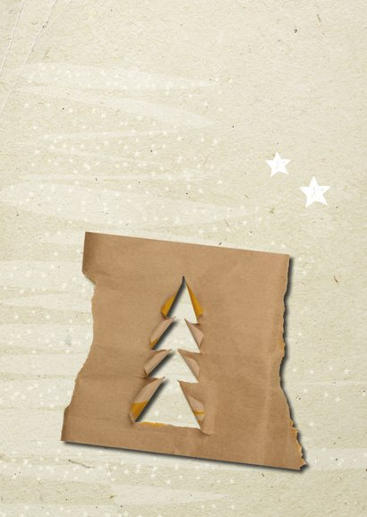 Kerstkaart trendy papers kerstboom 2